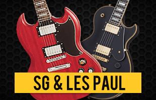 Guitarra SG e Les Paul