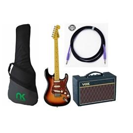 Kit com Guitarra Tagima TG530, Amplificador Vox, Capa e Cabo + Correia de Brinde