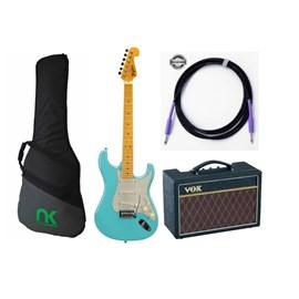 Kit com Guitarra Tagima TG530, Amplificador, Capa e Cabo - Correia de Brinde