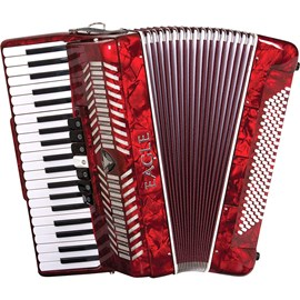 Acordeon Eagle 120 Baixos EGA 07120 Sanfona Pearl Red Eagle