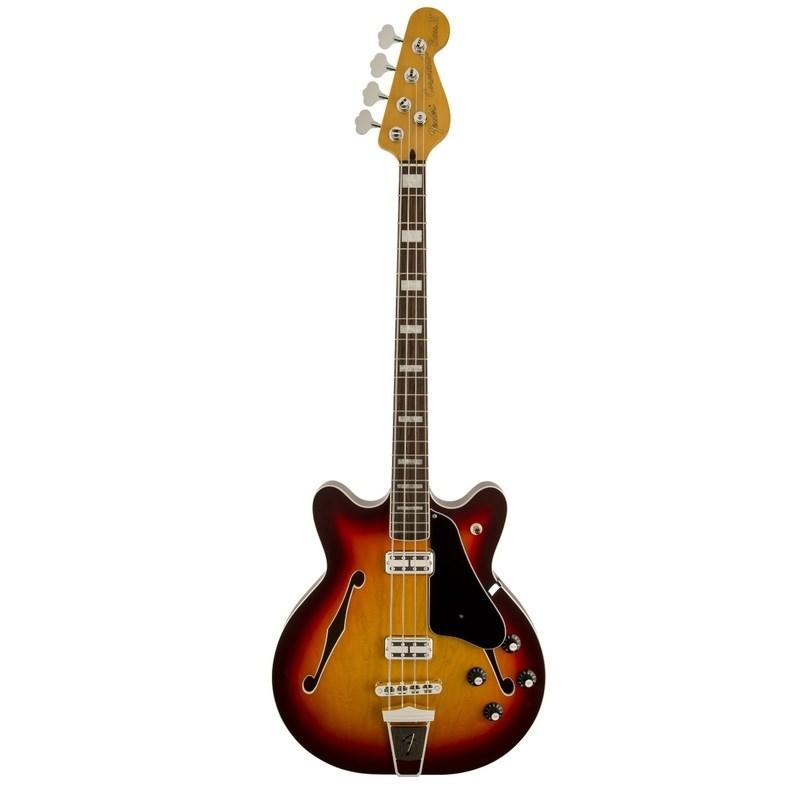 Baixo Fender 4c Modern Player Coronado Bass Fender - Aged Cherry Burst (531)