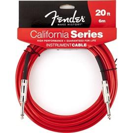 Cabo para Instrumento 6,10m California Séries Fender - Vermelho (Candy Apple) (CA)