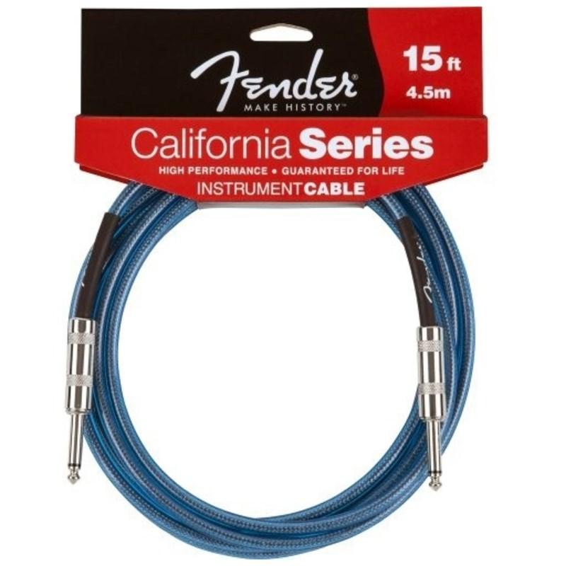 Cabo para Instrumento P10 Reto-P10 Reto California Séries 4,57m Fender - Azul (Laked Placid Blue) (5