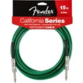 Cabo para Instrumento P10 Reto-P10 Reto California Séries 4,57m Fender - Verde (Surf Green) (557)