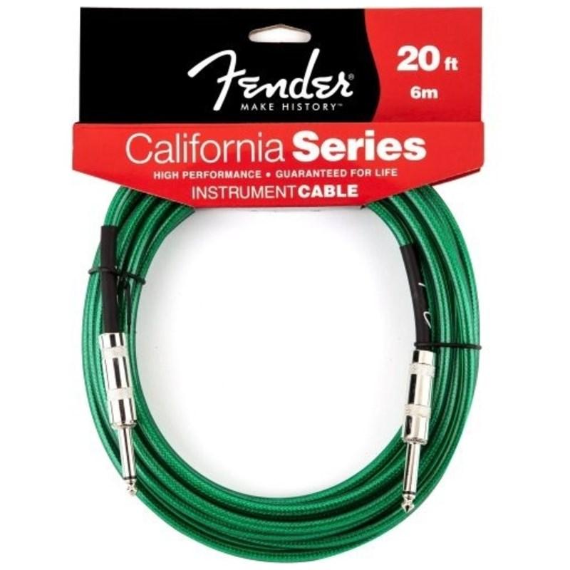 Cabo para Instrumento P10 Reto-P10 Reto California Séries 6,10m Fender - Verde (Surf Green) (557)