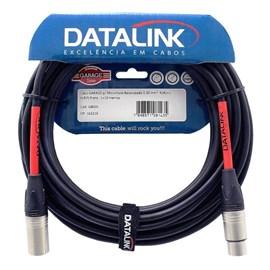 Cabo para Microfone Balanceado XLR/XLR PRETO = 10 metros Data Link