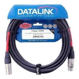 Cabo para Microfone Balanceado XLR/XLR PRETO = 7 metros Data Link