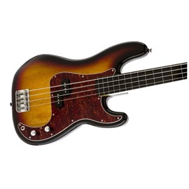 Contrabaixo Fretless Vintage Modified Precision Bass Sem Traste Squier By Fender - Sunburst (3-color
