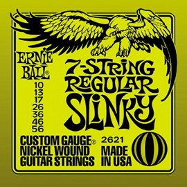 Corda Ernie Ball Nickel Slinky para Guitarra 7 Cordas - 0.10 Ernie Ball