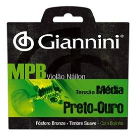 Corda Genwbg Violão Preto/ouro Giannini