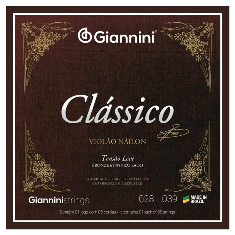 Corda Genwpl Violão 65/35 Prateado T.leve Giannini