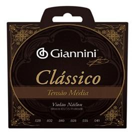 Corda GENWPM Violão 65/35 Prateado Tensão Média Giannini