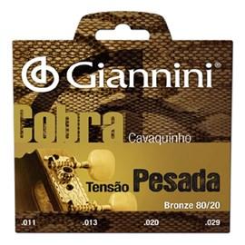 Corda Giannini para Cavaco Bronze 80/20 Pesado Giannini
