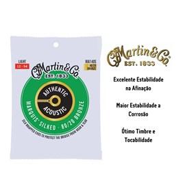 CORDA P/ VIOLAO ACO MA140S AUTHENTIC SILKED LIGHT 80/20 Martin