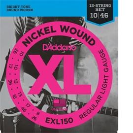 Corda para Guitarra 12 Cordas Exl150 (0.10) D'addario