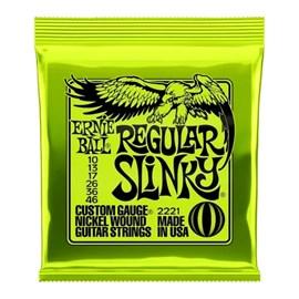 Corda para Guitarra 2221 Regular Slinky (0.010-0.046) Ernie Ball