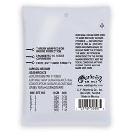Corda Para Vilão De  Aço MA500  Authentic Extra Light 92/8 Martin