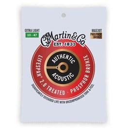 Corda para Violão Aço Authentic Acoustic 010-047 Martin