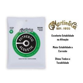 Corda Para Violão Aço MA530S Authentic Silked Extra Light 92/8 Martin