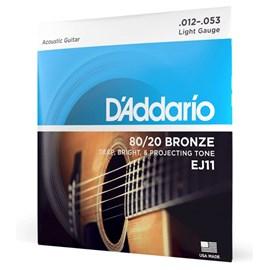 Corda para Violão de Aço EJ11 Bronze 80 20 (.012) D'addario