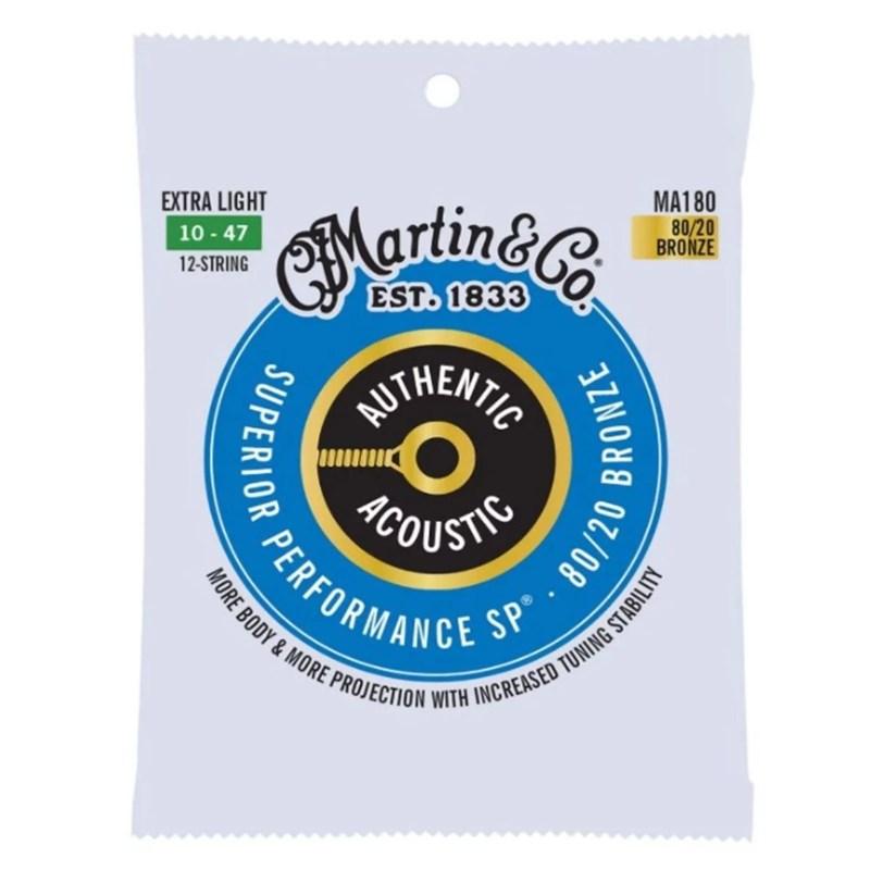 Corda Para Violão De Aço MA180 Authentic Acoustic 80/20 Martin