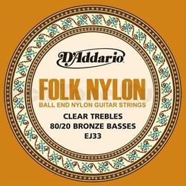 Corda para Violão Folk Nylon EJ33 D'Addario
