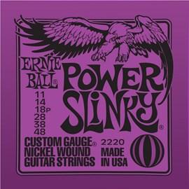 Encordamento Ernie Ball Power Slinky 2220 para Guitarra (0.11) Jogo de cordas Ernie Ball