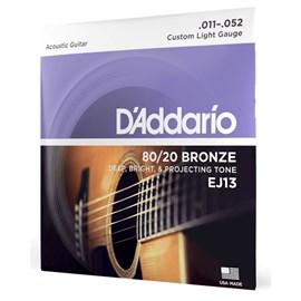 Encordamento para Violão Aço EJ13 Bronze 80/20 0.011-0.052 Jogo De Cordas D'Addario