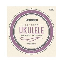 Encordoamento de Nylon Preto para Ukulele Havaiano EJ53C D'Addario