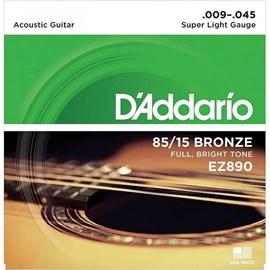 Encordoamento De Violão Aço EZ890 Bronze 85/15+PL09 - 0.009-0.045 Jogo De Cordas D'Addario