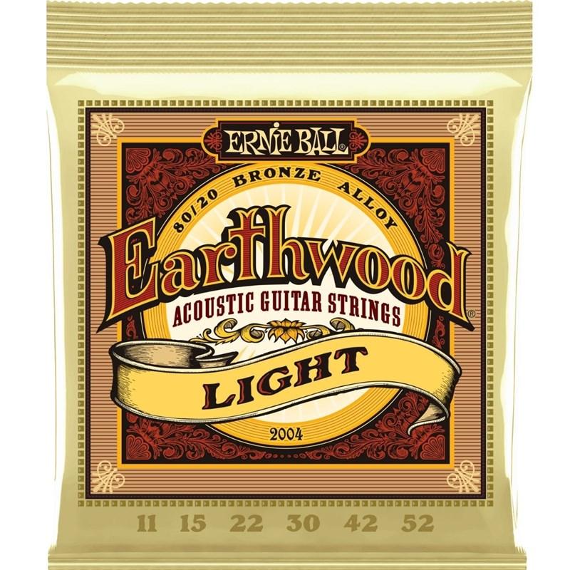 Encordoamento Earthwood 80/20 Light Violão Aço (2004) 0.011-0.052 Jogo de Cordas Ernie Ball