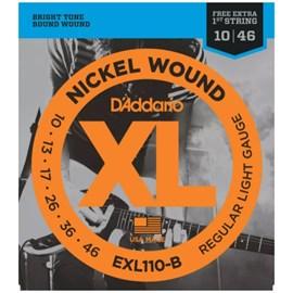 Encordoamento Guitarra D'addário EXL110 B+PL010 - 0.010-0.046  jogo de cordas D'Addario