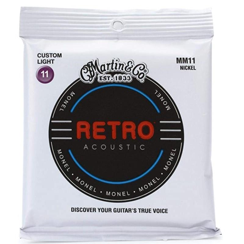 Encordoamento Mm11 Retro Custom Light 011-.052 Jogo de Cordas Martin