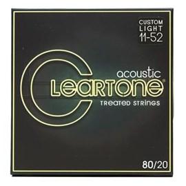 Encordoamento par Violão de Aço 80/20 Bronze Light 11-52 Cleartone