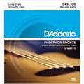 Encordoamento para Baixolão EPBB170 Regular Light/esc.longa 0.45-0.100 Jogo de Corda D'Addario