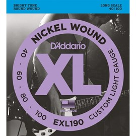 Encordoamento para Contrabaixo 4 Cordas EXL190 Escala Longa 0.040-0.100 D'Addario
