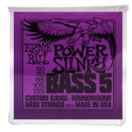 Encordoamento para Contrabaixo 5 cordas 2821 - 0.050- 0.135 Power Slinky Ernie Ball