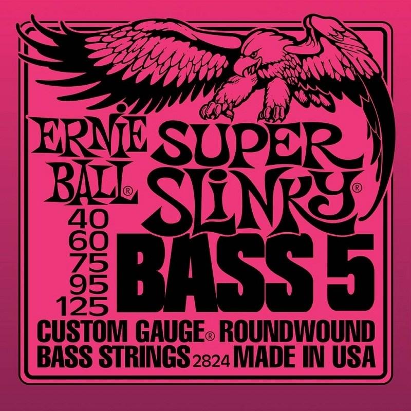 Encordoamento para Contrabaixo 5 Cordas 2824 Super Slinky 0.040-0.125 Ernie Ball