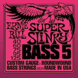 Encordoamento para Contrabaixo 5 Cordas 2824 Super Slinky 0.040-0.125 Jogo de Cordas Ernie Ball