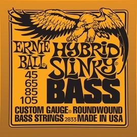 Encordoamento para Contrabaixo Hybrid Slinky 2833 4 Cordas Ernie Ball