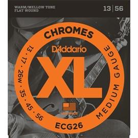 Encordoamento para Guitarra Chromes Ecg26 Medium 0.013-0.056 Jogo de Cordas D'Addario