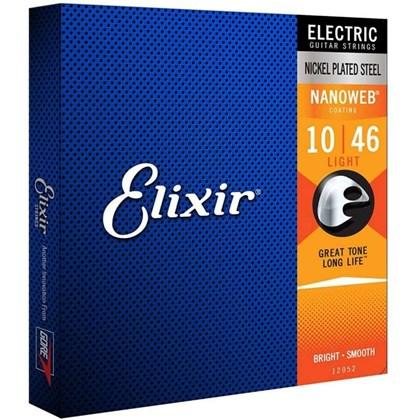 Encordoamento para Guitarra Elixir 010-046 Nanoweb Jogo de Cordas Elixir