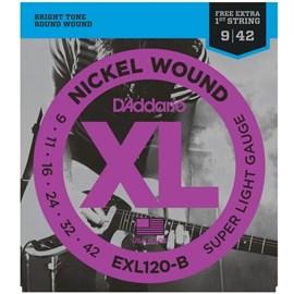 Encordoamento para Guitarra EXL120 B Jogo de Cordas D'Addario