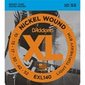 Encordoamento para Guitarra EXL140 Heavy Bottom 0.010-0.052 Jogo de Cordas D'Addario