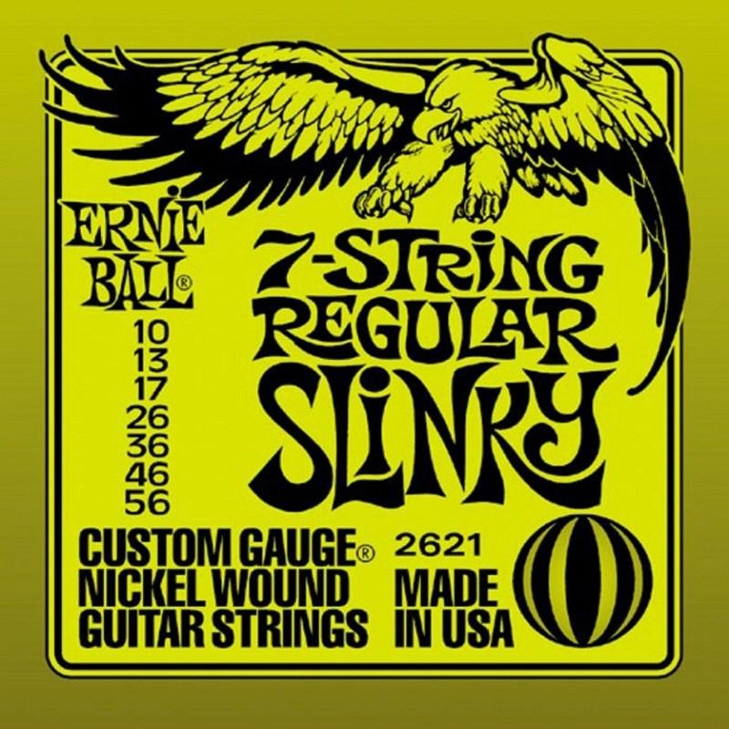 Encordoamento para Guitarra Nickel Slinky 7 Cordas - 0.10-0.56 Jogo de Cordas Ernie Ball