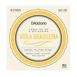 Encordoamento para Viola Brasileira EJ82A  Cebolão Ré D'Addario