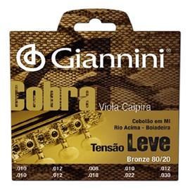 Encordoamento para Viola Cv82l Bronze 80/20 Cebolão em Mi Jogo de Cordas Giannini