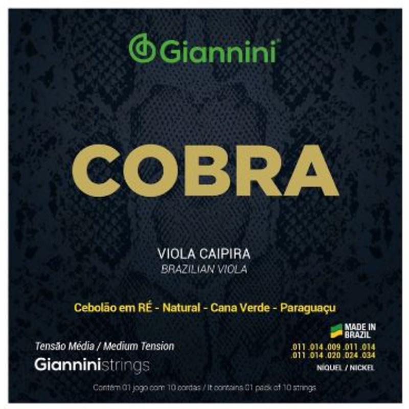 Encordoamento para Viola Gesvnm Viola Níquel Média 0.011-0.34 Jogo de Cordas Giannini