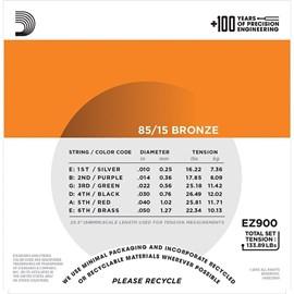 Encordoamento para Violão Aço EZ900B+PL010 - 0.010-0.050 Jogo de Cordas D'Addario