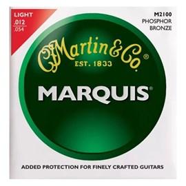 Encordoamento para Violão Aço M2100 marquis Phosphor Bronze Light 012-.054 Jogo de Cordas Martin